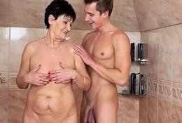 Grandma Anastasia on youthful load of shit