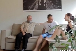 Cute youthful gal fucked by old cohort