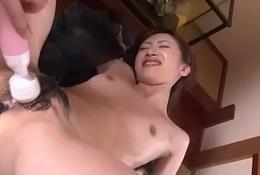 Deep penetration pussy sexual intercourse close by hawt Kanon Hanai