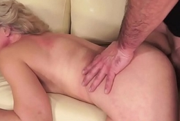 Hairy granny doggystyled off out of one's mind younger dick