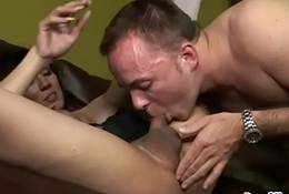 Ladyman schoolgirl fucked right into an asshole doggystyle