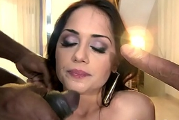 Beautiful eurobabe fucked into ass all over threeway