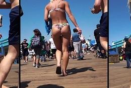 Chunky Butt Thong Hawt Latin chick Voyeur Lakeshore HD Spycam Video