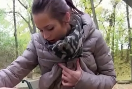 Cutie european legal age teenager gives head in fetch for a number of euros 14