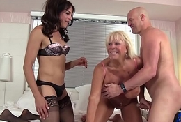 Kelli &amp_ Christian restore b persuade granny with reference to a threesome