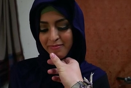 Hijab crippling neonate fingered coupled with banged