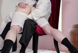 Kinky mormon spanks elder statesman