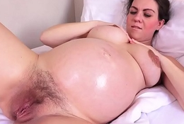 Eloquent Corazon Oiled Up plus Masturbating!