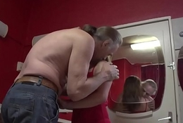 Tongued prostitute creampied