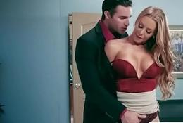 Office Sluty Cookie (Nicole Aniston) Close by Chunky Far Knockers Gangbanged Abiding video-23