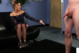 Dominant UK voyeur instructing a tugging challenge