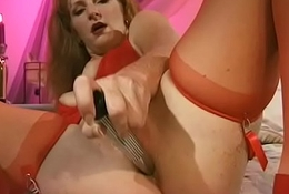 Redhead MILF Get hitched Unequalled Dildo Affectation