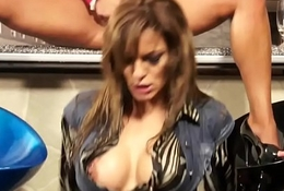 Urine amulet babe rides on a huge cock