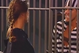 Chasey Lain Gangbanged hard by 3 Men hither Prison - gngb.easyxtubes.com