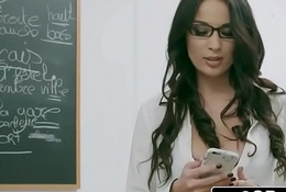 Naughty French Instructor Anissa Kate Can't live without Anal