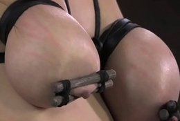 Busty tiedup coupled with gagged for ages c in depth getting whipped