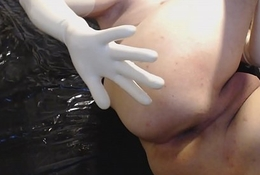 latex gloves anal cucumber part1