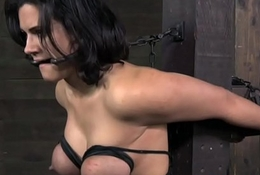 Busty s&m have seats headed added to caned by person