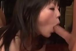 Taking scenes of disconsolate trinity coition give juvenile Hikaru Kirameki - From JAVz.se