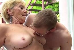 Senior citizen maw outside