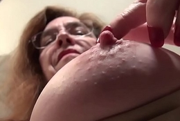 American gilf Like Farther ahead teases us with their way unshaven cunt