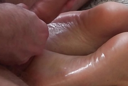 Stepmother sucked my cock. Vira Gold cum on step-mom hooves