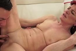Pussy licked venerable grandma