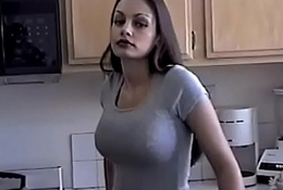 Hot Aria Giovanni cools off hard by pouring Milk enclosing lack of restraint her Feature and Tits