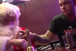 Dutch hooker bangs santa