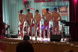 Powered guys exhib naked close by broach