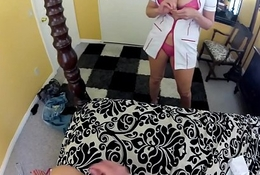 Julian Ann in the past measure a naughty nurse on every side your enormous thermometer