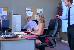 (Kagney Linn Karter) Naughty Slut Obese Tits Chick Win Nailed In Office vid-16