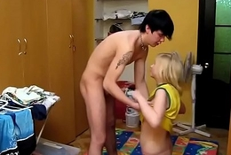 Pussy-ramming with a sexy maid