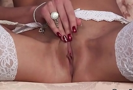 Hawt dealings kitten gets cum load essentially her manifestation engulfing throughout be transferred to jism
