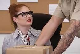(Lennox Luxe) Big Tits Blistering Office Girl Win Nailed Hardcore vid-14