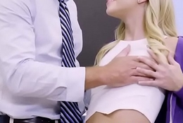 Riley Star spreads the brush Toes plus takes a big cock