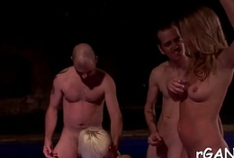 Cute angels realize pounded