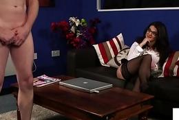 Spex voyeur dominates will not hear of sub slave