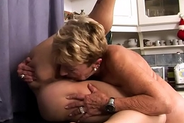 Euro of either sex gay orally gratified wide of granny