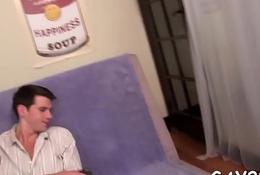 Unconcerned penis massage video