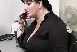 Tryst lovemaking with busty secretary thither stocking